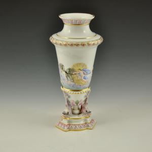 Jar with dolphins from Le Metamorfosi by Ovidio Manifattura Ginori, Doccia (Florence), 2nd half of the 19th century