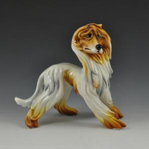 Afghan hound by Silvio Righetto for the Cacciapuoti Manufacture, Milan 1940s / 1950s