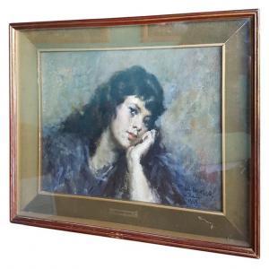 Pintura al óleo sobre lienzo firmada y fechada Giovanni Maria Mossa (1896 1982) PRECIO NEGOCIABLE