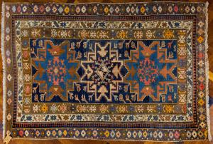 Tappeto antico Shirwan Lesghy caucasico in lana