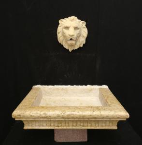 Lavandino Neoclassico finemente lavorato - 65 x 54 cm - Marmo Botticino - 18° secolo