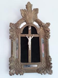 在阿瓦里奥1800 h56xl33 cristo h13与基督的镀金框架