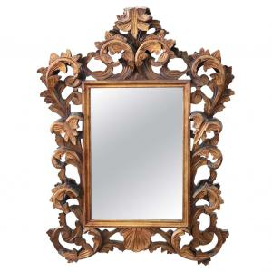 mirror in antique baroque style carved and gilded wood sec. XX