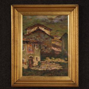 意大利绘画签署了乡村风景