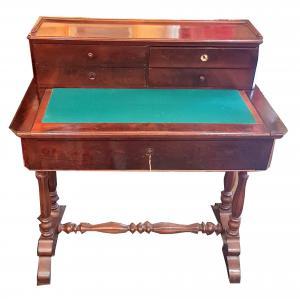 Antico scrittoio Inglese epoca '800 in Noce con alzatina mobile