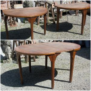Antico tavolo consolle a mezzaluna