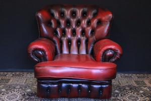 Poltrona Chesterfield / Chester bergere monk in pelle bordeaux originale inglese