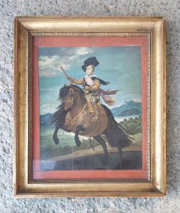 Retrato da obra de Velázquez