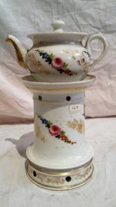 French porcelain tea pot with Louis Philippe era floral paintings