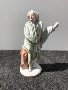 Porzellanfigur mit männlicher Figur. Ginori