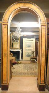 pan116 telaio doppio ad arco laccato finto marmo, mis. h 290 x145 cm