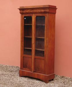 Vitrina vitrina Luigi Filippo capuccina, dos puertas, caoba, '800 - L 104.5 cm!