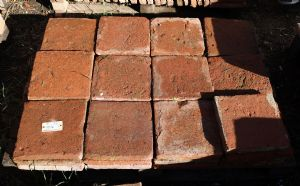 Ancient brick in terracotta. 26x26 cm. Period 1800.