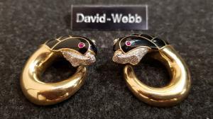 Magnifici orecchini firmati David Webb