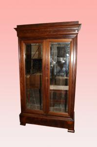 Armadio 2 porte con specchi stile Luigi Filippo francese del 1800