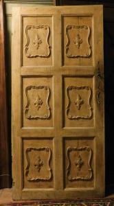 ptl541 - лакированная дверь с резными панелями, 19 век, из Генуи, размеры 96 x 200 x 200 см. 3