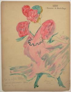 Serie di antichi disegni per il Moulin Rouge