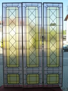 Details about LOTTO VETRATE CATTEDRALE 3 LEADED PANELS LEADED LIBERTY CM 45X192