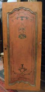 ptl495 - porta lacada, pintada à mão, l máx 92,5 cm xh 214,5