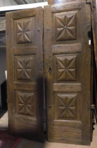 ptci442 porta de entrada em nogueira piemontesa com um ponto de diamante, mis. 191 x 130 cm