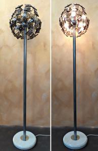 Piantana Sputnik in vetro fume' - Fontana Arte anni '60