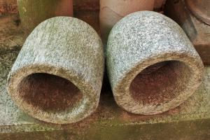 COUPLE OF GRANITE VESSELS