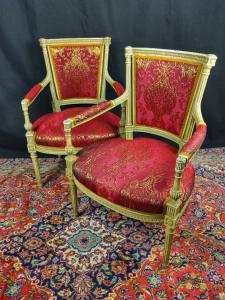 Pair Of Louis XVI Armchairs From The 18th Century