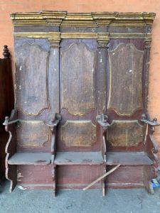 Венецианская скамейка 600 1 из 2, лакированная и позолоченная