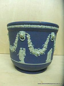 Subject: Ancient Jasper cobalt blue vase holder