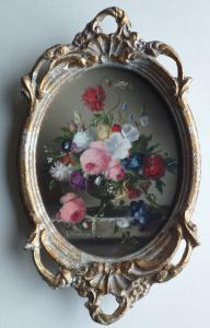 Pintura floral muito fina