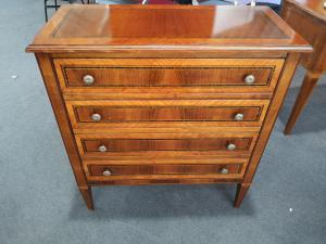 Lombard inlaid chest of drawers
