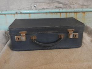 cardboard suitcase from the 50s
