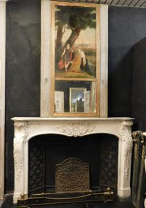 chm512 carved marble fireplace, Italian, age 1700