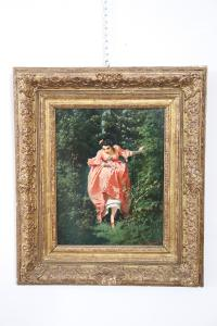 Antikes Gemälde unterzeichnet Guido Gonin (1833-1906) Maler Torinese Sec. XIX PREIS VERHANDELBAR