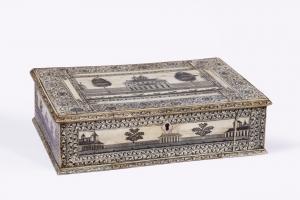 英印盒子Vizagapatam 18世纪