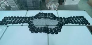 Шаль из тюля черного цвета с тонкой вышивкой (на фото видны небольшие изъяны) Италия.