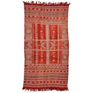 Raro antico tappeto-tessuto Tunisino