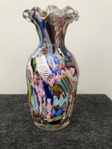 Vaso in vetro con murrine,Dino Martens per A.v.e.m Murano.