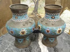 Vasi in bronzo Giapponesi