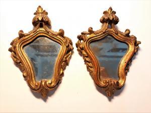 Coppia di specchierine veneziane