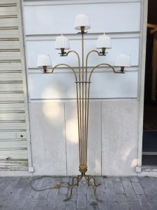 Lampada di design in ferro battuto - anni 70 - italiana