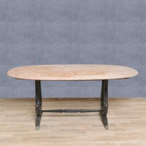Tavolo marmo rosa anni '50, Pink marble table from 50s