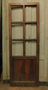 pti667 porta semplice a vetri, misura cm l 67,5 x h 191,5
