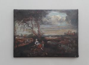 Picture painting complement of furniture, oil on canvas, pr.'800 - H 50 x L 67.5 cm!