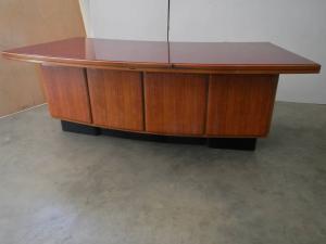 scrivania con cassettiera anni 50 ditta anonima castelli