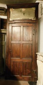 pti612 - Tür in Pappel und Kastanie, mis. max 117 cm x 282 h