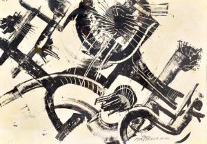Multiple print by Umberto Mastroianni, Multiple print by Umberto Mastroianni