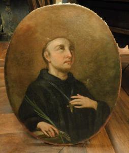 pan228 - dipinto olio su tela, cm 62,5 x h 81