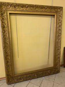 Cornice dorata inizio 800 , cm 124 x158