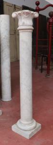 Ancient marble column. Period 1800.